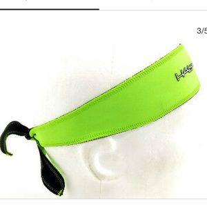 Neon green Halo sports tie headband